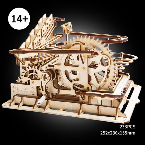 Waterwheel Coaster Wooden Model Kit - Size