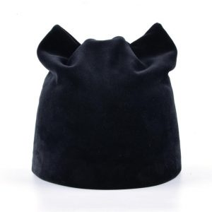 Women's Autumn-Winter Beanie Hat - Black