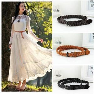 Women's Braided Rope Belt