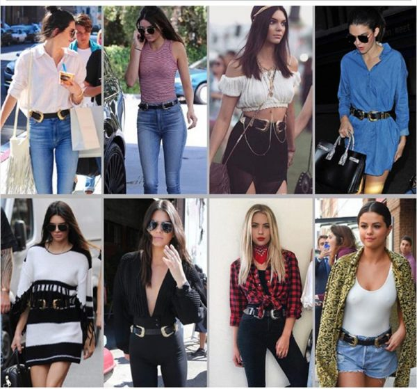 Women's Carved Double Buckle Belt - Models