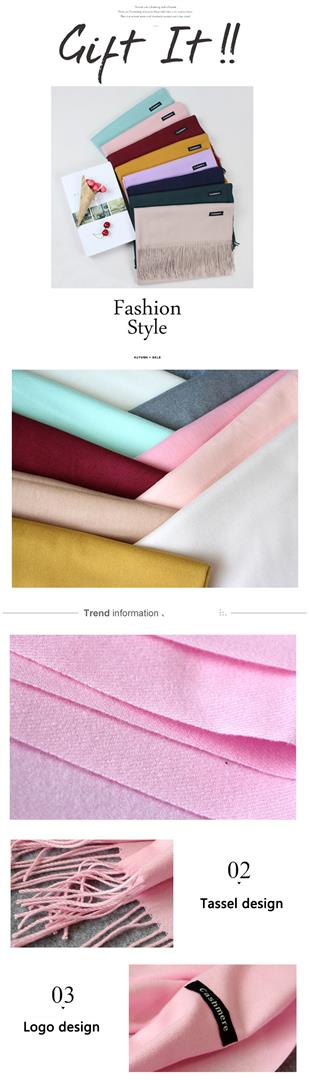Women's Cashmere Scarves With Tassel - Samplw