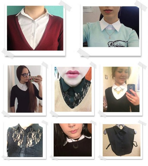 Women's Fake Blouse Top Accessory - Samples