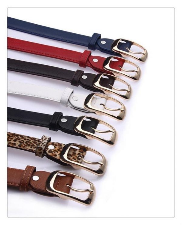 Women's Faux Leather Belt With Metal Buckle 1