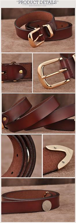 Women's Genuine Leather Fashion Belt - Details 2