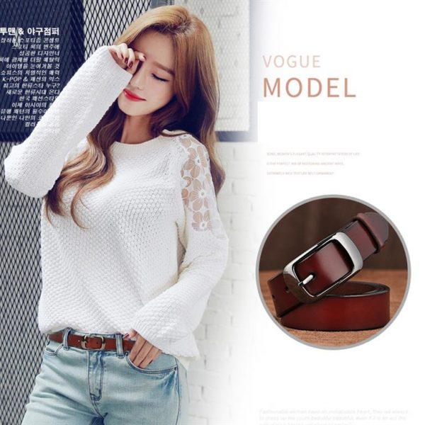 Women's Genuine Leather Fashion Belt - Model 2