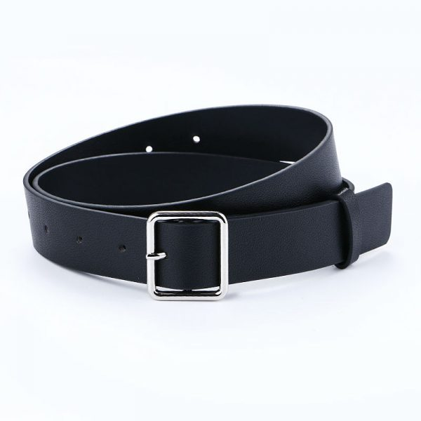 Women's Pin Buckle Belt - Black Square
