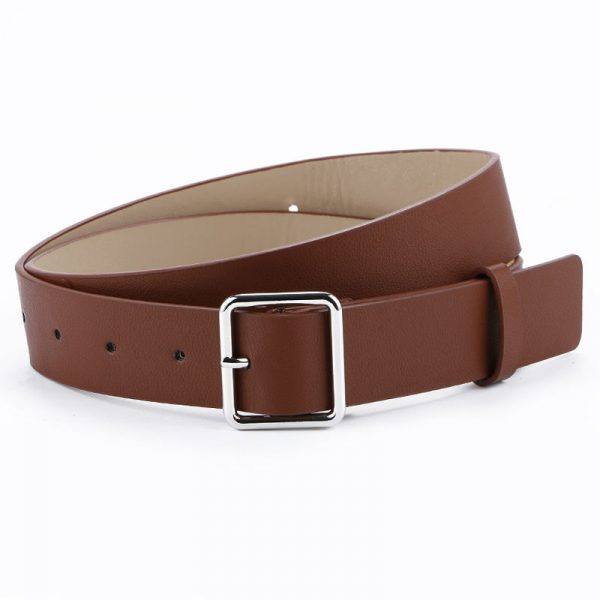 Women's Pin Buckle Belt - Brown Square