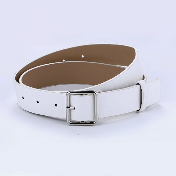 Women's Pin Buckle Belt - White Square