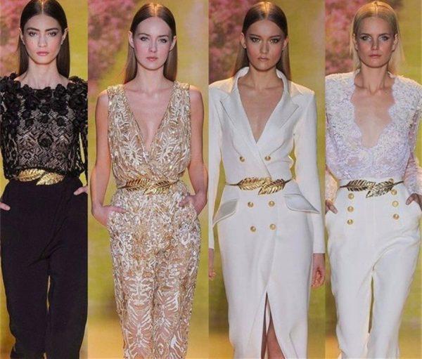 Women's Skinny Metallic Belt - Models 1