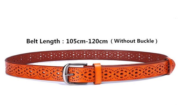 Women's Wide Genuine Leather Belt - Size