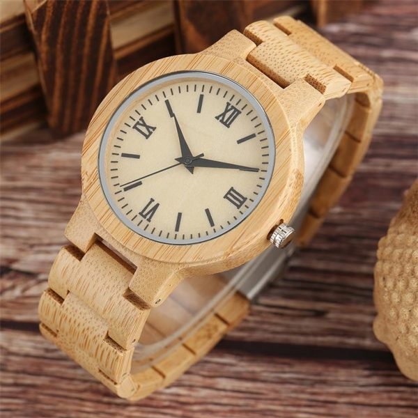 Bamboo Handmade Wooden Watch - Angle