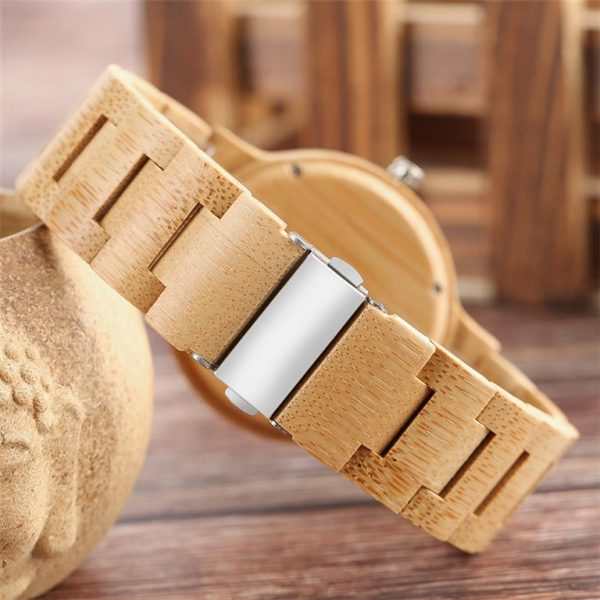 Bamboo Handmade Wooden Watch - Back