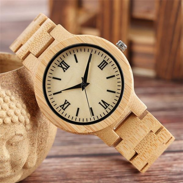 Bamboo Handmade Wooden Watch - Front