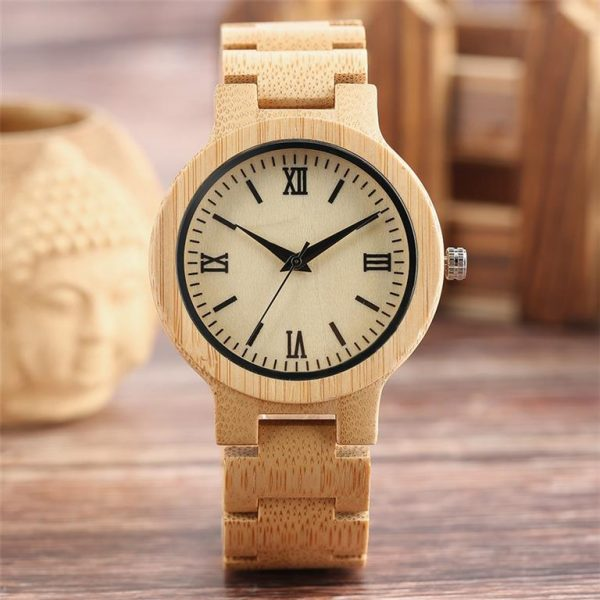 Bamboo Handmade Wooden Watch - Light
