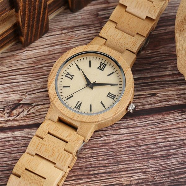 Bamboo Handmade Wooden Watch - Sample