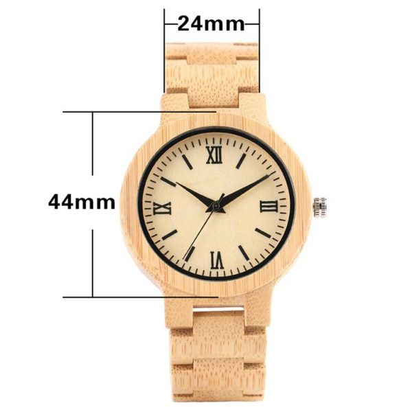 Bamboo Handmade Wooden Watch - Size