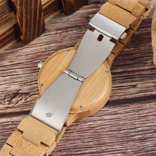 Bamboo Handmade Wooden Watch - Underside