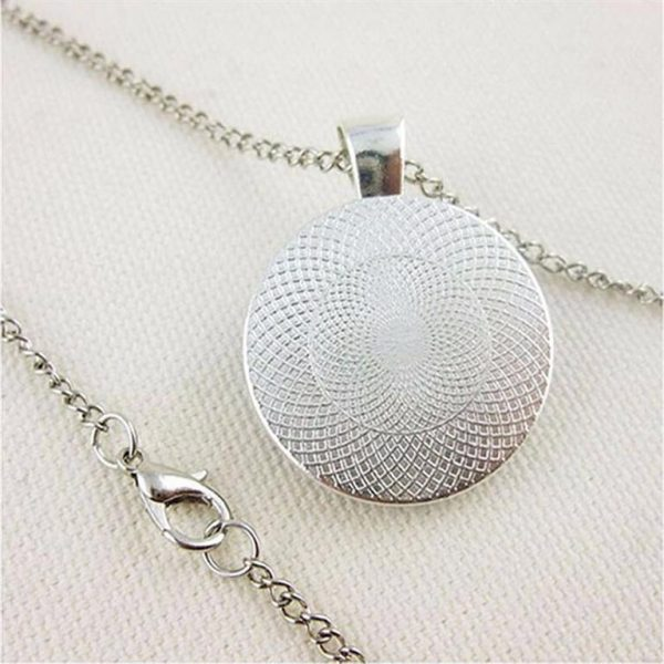 Crystal Zodiac Pendant With Silver Chain - Back
