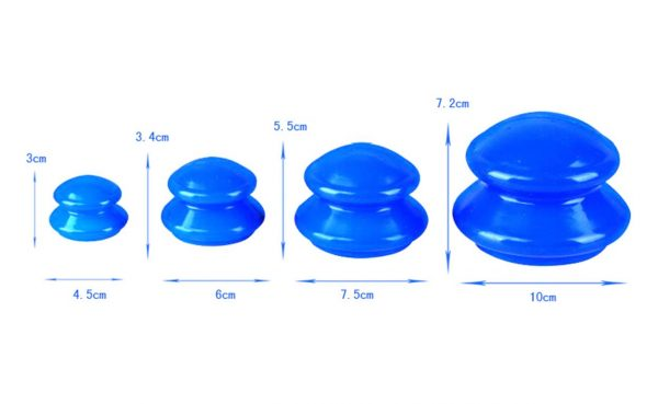 Cupping Therapy Kit - 4 Pieces - Blue