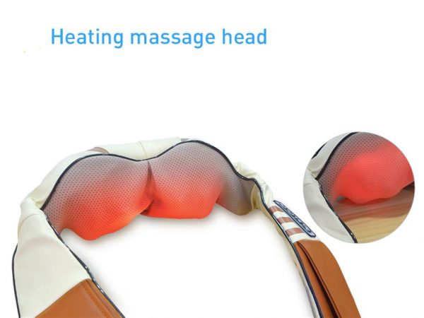 Electrical Shiatsu Back Neck Shoulder and Body Massager - Heated massage heads