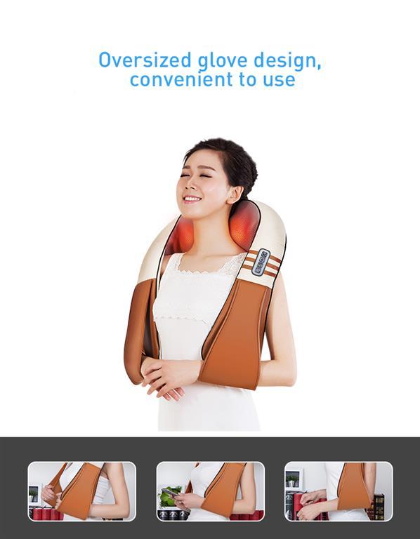 Electrical Shiatsu Back Neck Shoulder and Body Massager - glove design