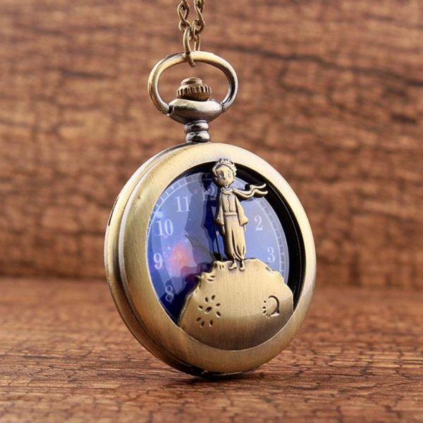 Little Prince Pocket Watch With Chain For Children - Front 3