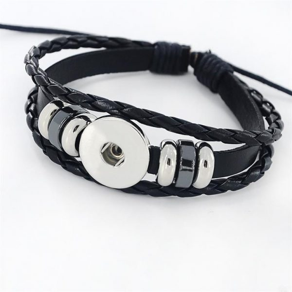 Men's Leather Zodiac Bracelet - Belt