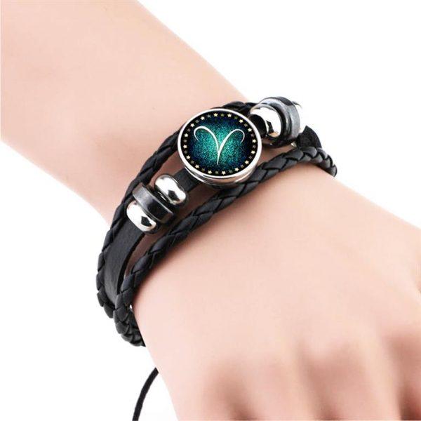 Men's Leather Zodiac Bracelet - Demo 2