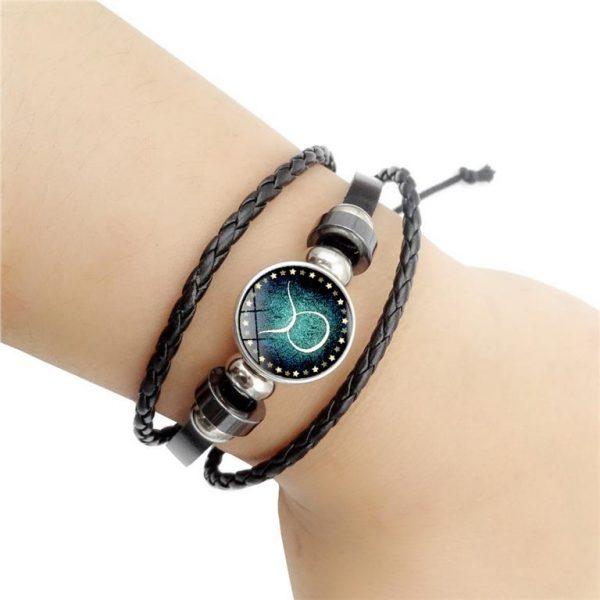 Men's Leather Zodiac Bracelet - Demo 3