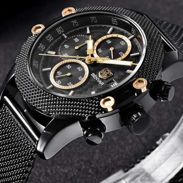 Men's Waterproof Sports Chronograph - Close Up