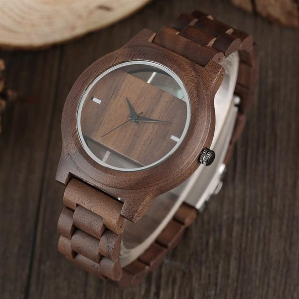 Unique Hollow Handmade Wooden Watch - 2