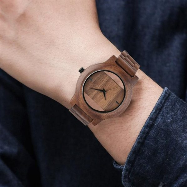 Unique Hollow Handmade Wooden Watch - 4