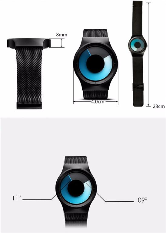 Unisex Digital Minimalist Watch -Size