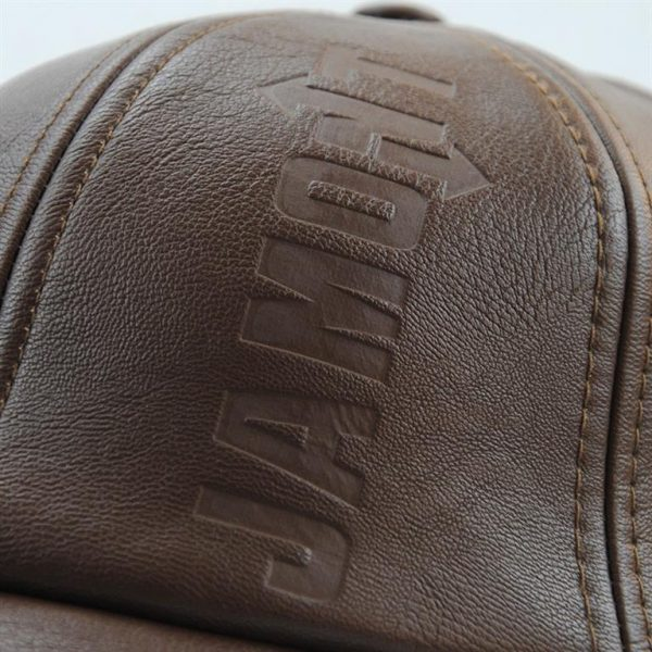 Vintage Leather Baseball Cap - Cap