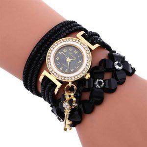Women's Charm Bracelet Watch - Black