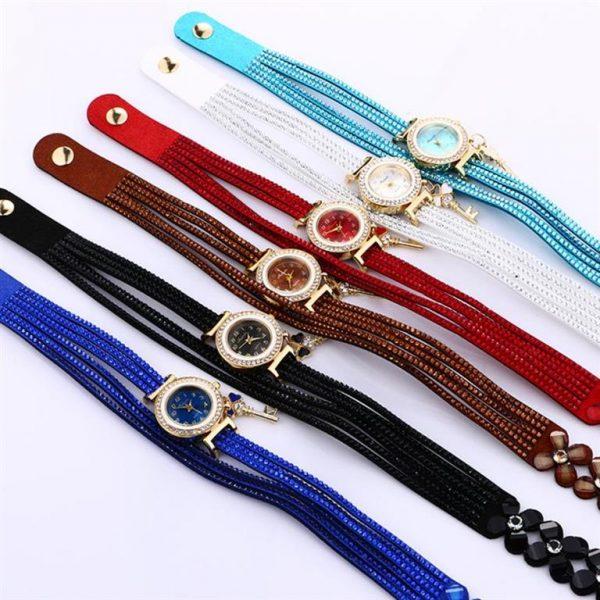 Women's Charm Bracelet Watch - Colours