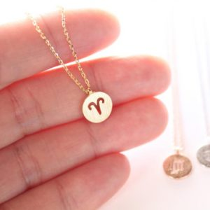 Women's Gold Plated Zodiac Necklace - Sample