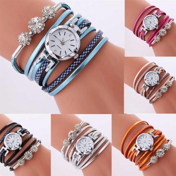 Women's Luxury Rhinestone Bracelet Watch - Views