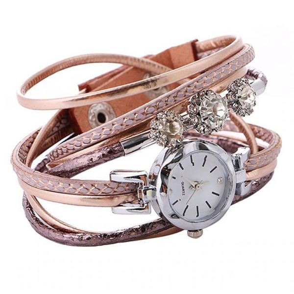 Women's Luxury Rhinestone Bracelet Watch - Front