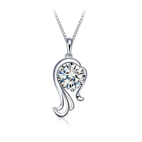 Women's Zircon Silver Plated Zodiac Pendants - Sample 1