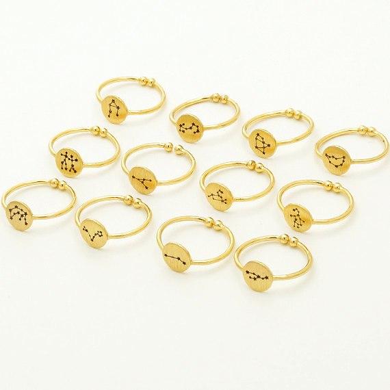 Women's Zodiac Open Rings - Gold