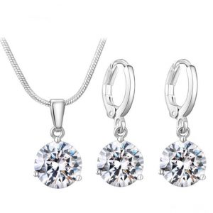 Colorful Zircon Jewelry Sets for Women