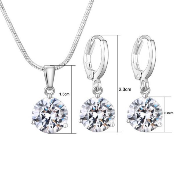 Colorful Zircon Jewelry Sets for Women - Size
