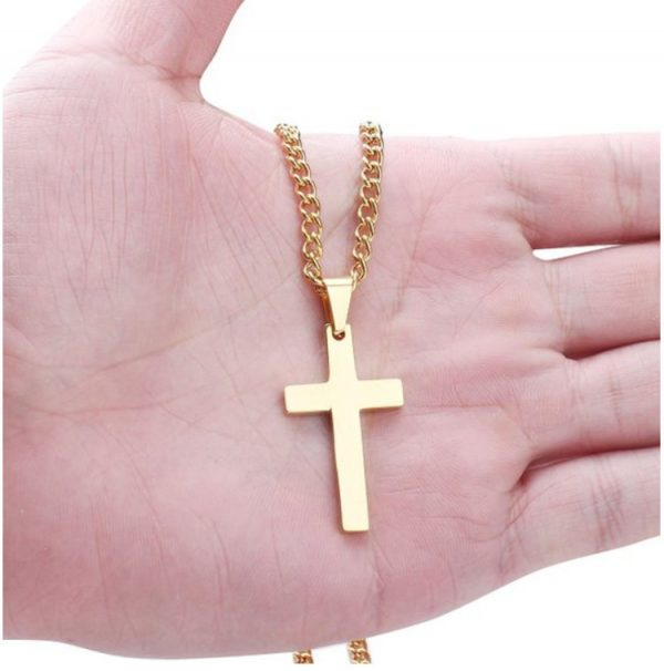 Cross Pendant With Chain - Gold Comp