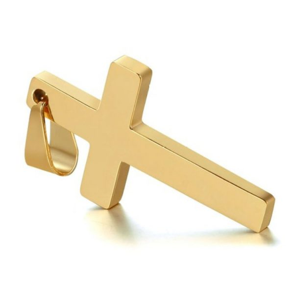 Cross Pendant With Chain -Gold Cross