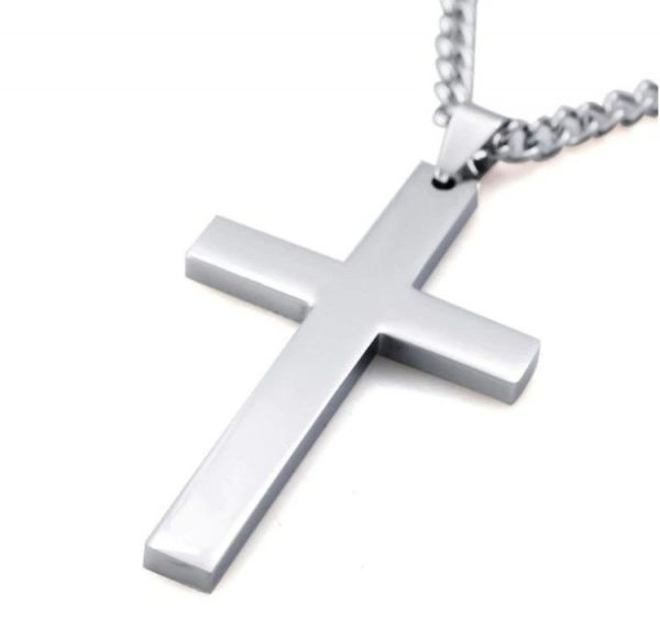 Cross Pendant With Chain - Silver 2