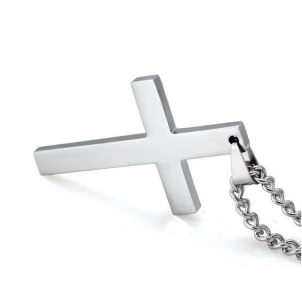Cross Pendant With Chain - Silver Cross