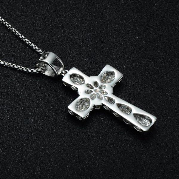 Cross Pendant for Men - Bling Collection - Back