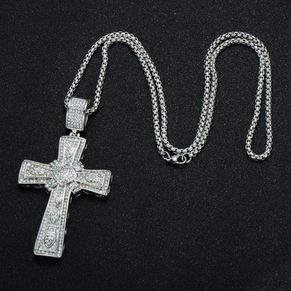 Cross Pendant for Men - Bling Collection - Chain