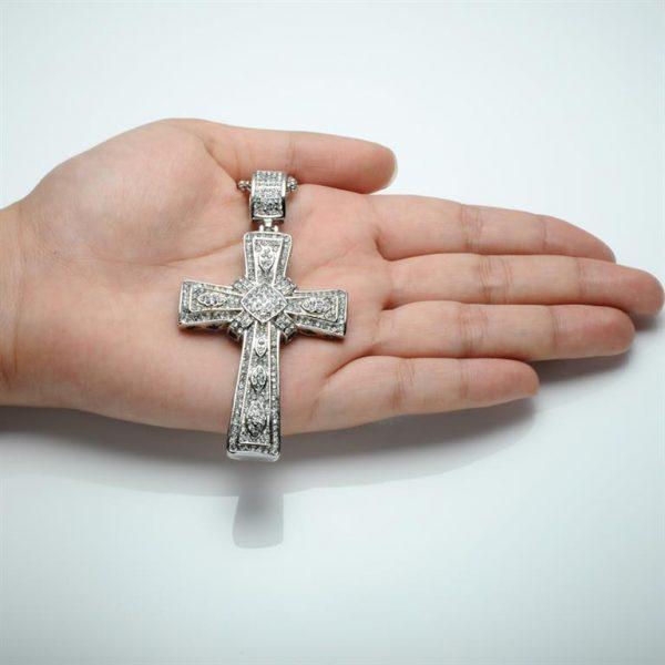 Cross Pendant for Men - Bling Collection - Hand